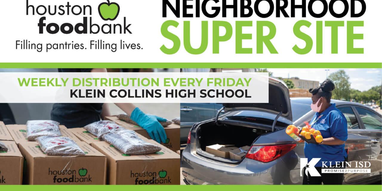 Klein Collins High School Now Serving as Houston Food Bank Neighborhood Super Site