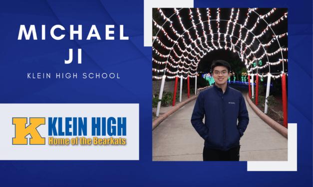 Klein High Senior Scholar Spotlight – Michael Ji