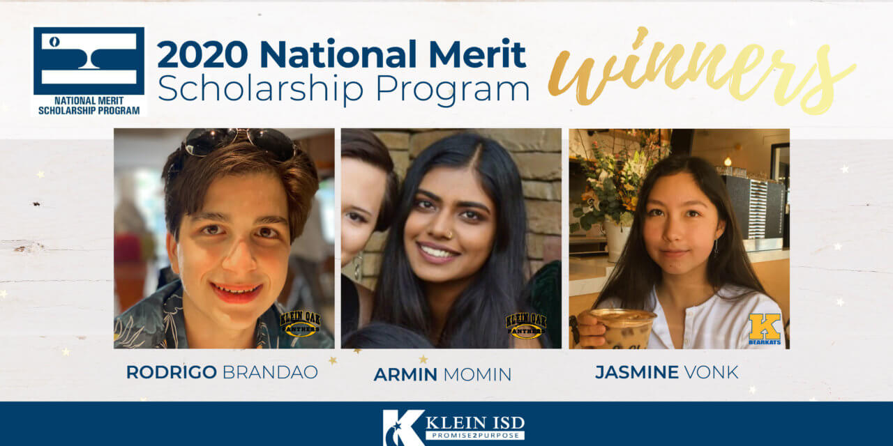3 Klein ISD Students Awarded National Merit Scholarships