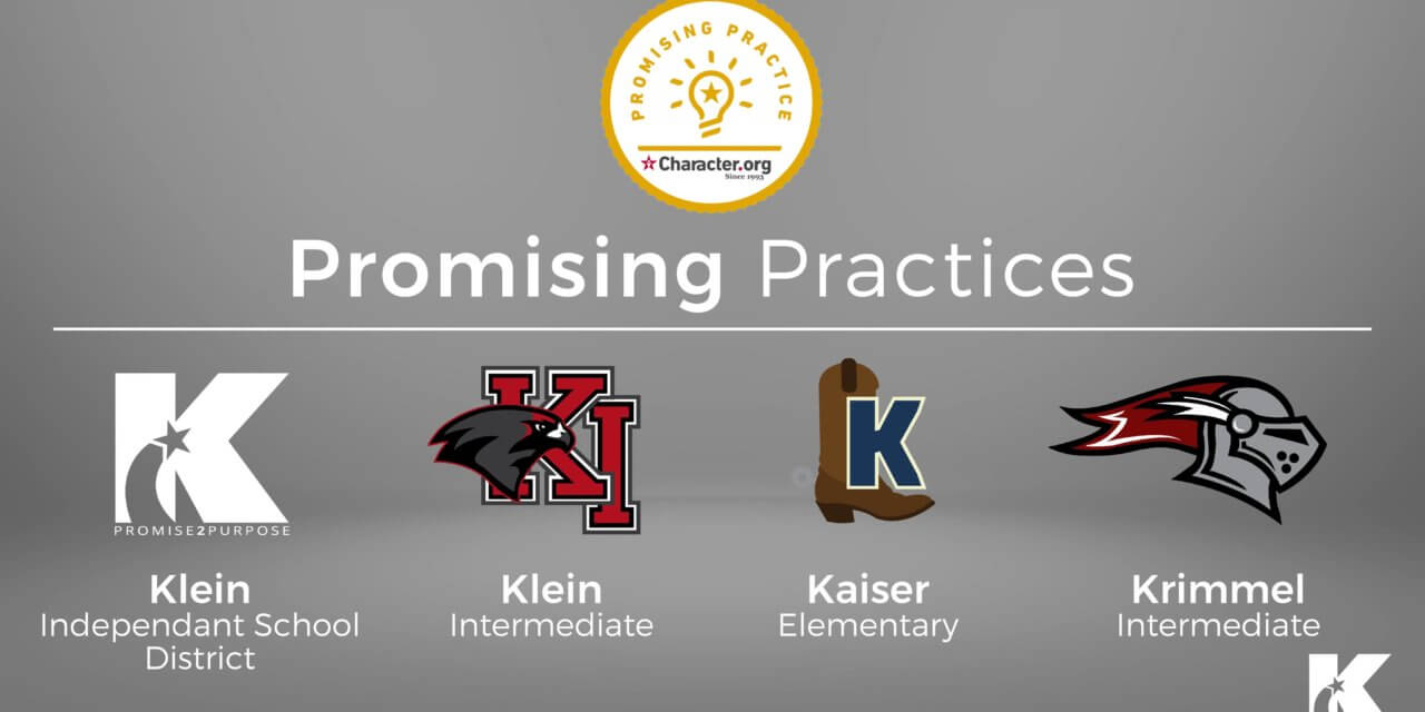 Klein ISD Schools Recognized for 'Promising Practices' in Character Education