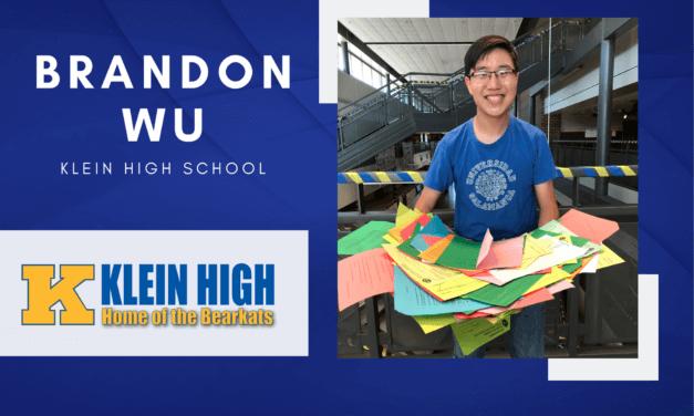 Klein High Senior Scholar Spotlight – Brandon Wu