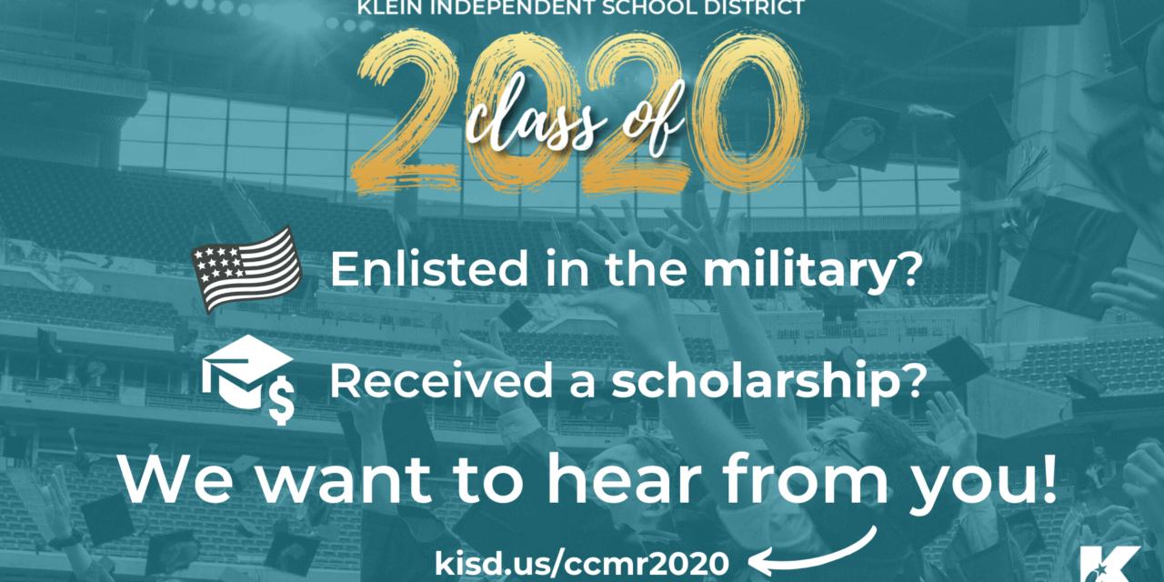Klein ISD Taking Scholarship and Military-Enlistment Survey