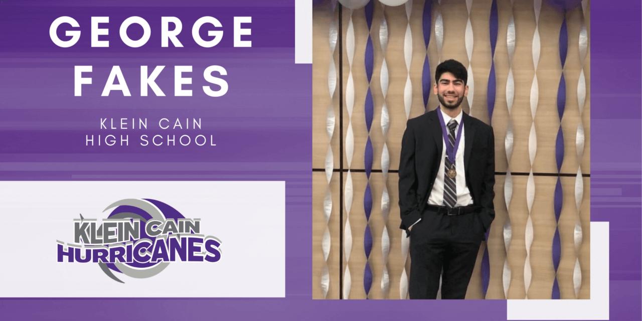 Klein Cain Senior Scholar Spotlight – George Fakes