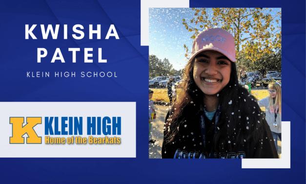 Klein High Senior Scholar Spotlight – Kwisha Patel