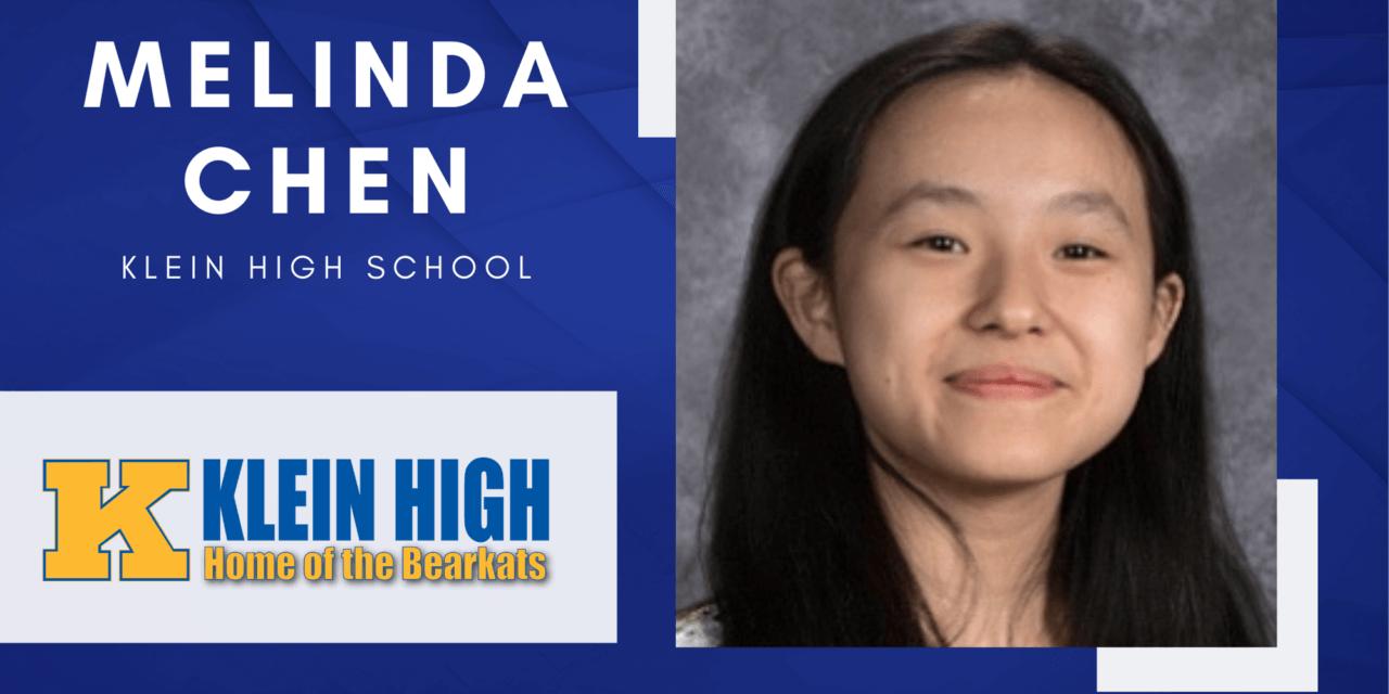 Klein High Senior Scholar Spotlight – Melinda Chen