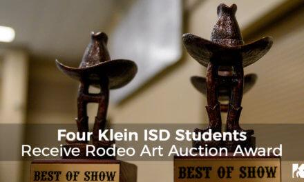 Cuatro Estudiantes de Klein ISD Reciben el Premio de Subasta de Arte del Rodeo