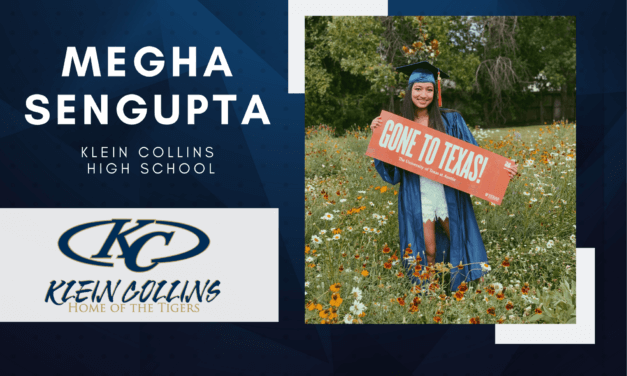Klein Collins Senior Scholar Spotlight – Megha Sengupta