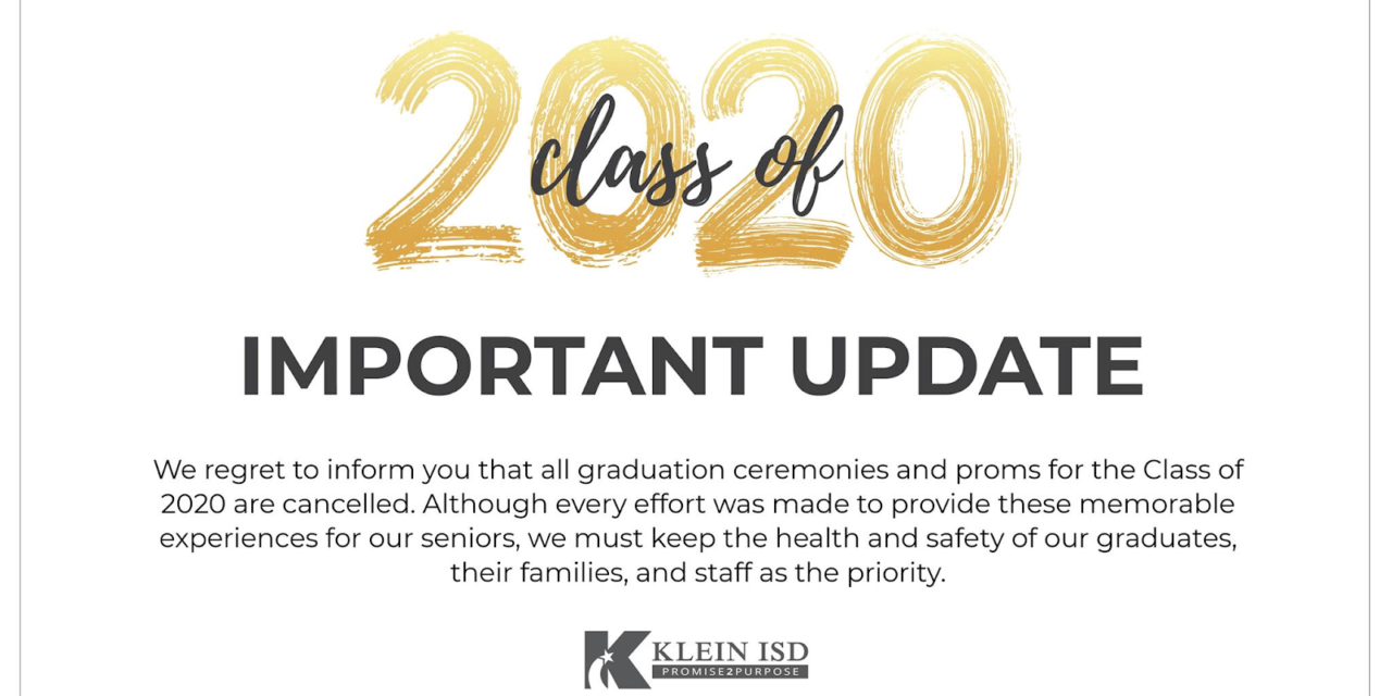 Class of 2020 Prom and Graduation Update