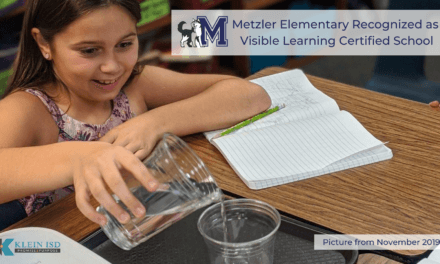 Metzler Elementary Recognized as Visible Learning Certified School
