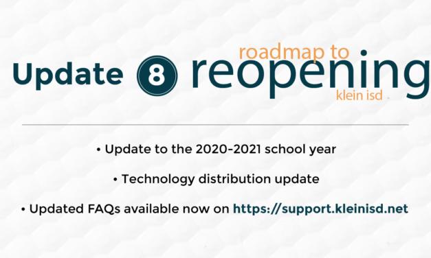 Update #8: Roadmap to Reopening Klein ISD
