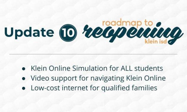 Update #10: Roadmap to Reopening Klein ISD