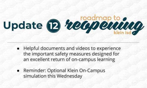 Update #12: Roadmap to Reopening Klein ISD