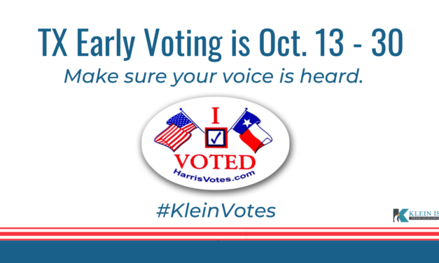 Early Voting Locations and Times in the Klein ISD Community