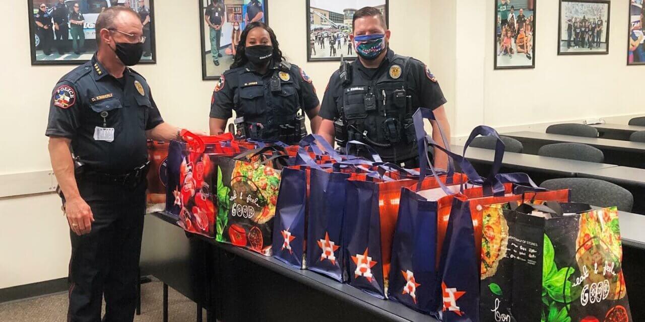 Klein Police Department Donates to Thanksgiving Food Basket Drive