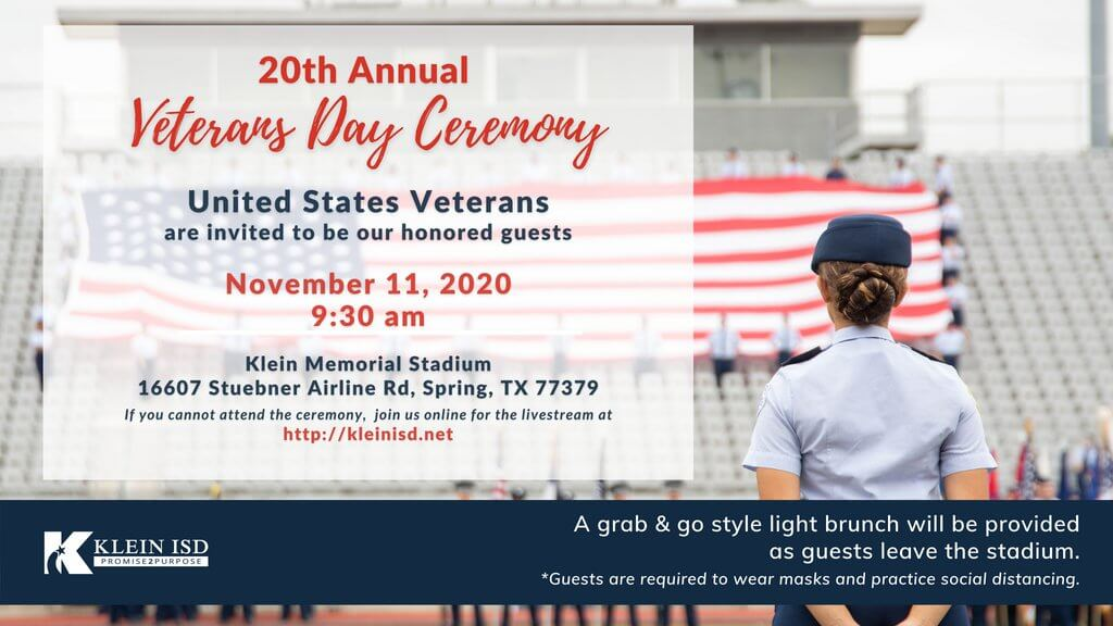 20th Annual Klein ISD Veterans Day Celebration