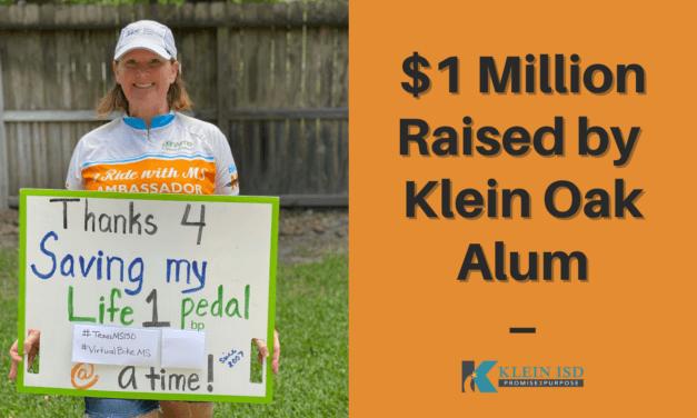 Klein Oak Alum Raises $1 Million for National Multiple Sclerosis Society
