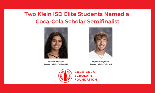 Two Klein ISD Elite Students Named Coca-Cola Scholar Semifinalists