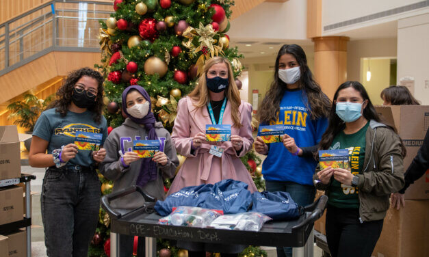 Klein ISD Health-Science Students Donate Covid-19 Survival Kits to Homeless Outreach