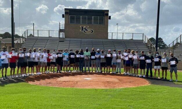 Klein Oak Baseball Honors Kailee Mills Foundation on Gear