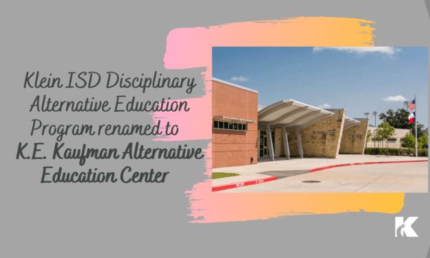 克莱因ISD学科替代教育计划更名为长期主管
