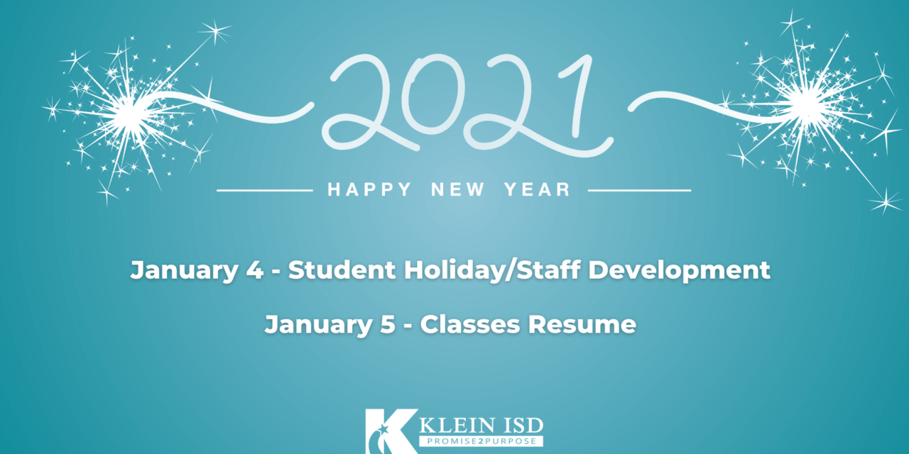 Reminder: Classes Resume January 5