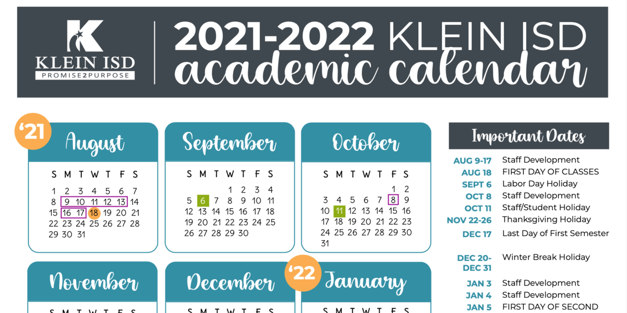 Klein ISD Board of Trustees Approve 2021-2022 Academic Calendar
