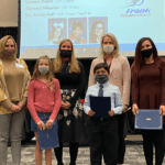 Frank Elementary Students and Teacher Honored at Board Meeting
