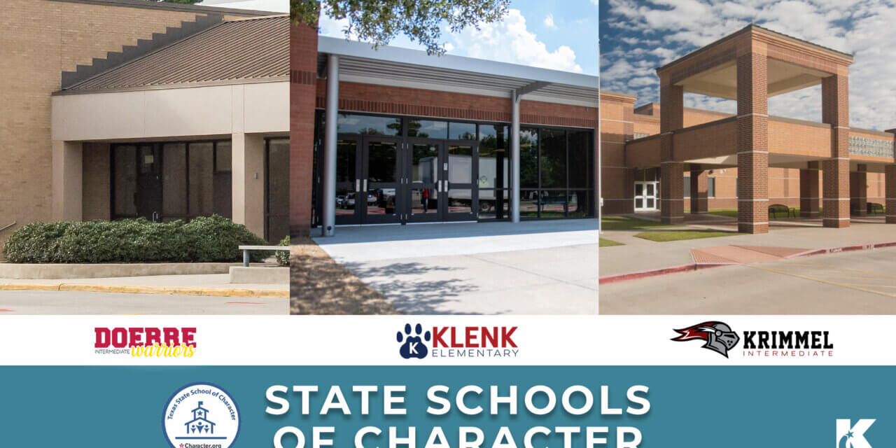 3 Klein ISD Schools Recognized as State Schools of Character