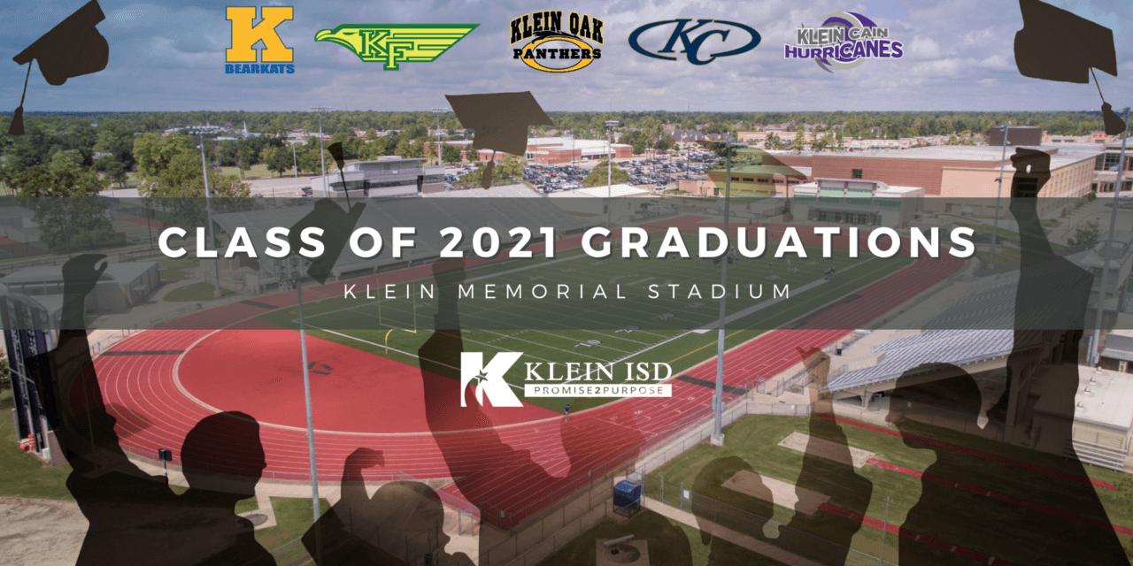Klein ISD Class of 2021 Sede y fechas de graduación