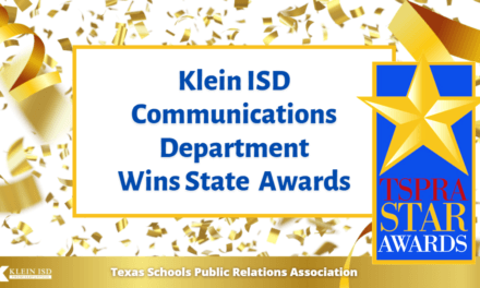Klein ISD Wins Big at State Public Relations Awards