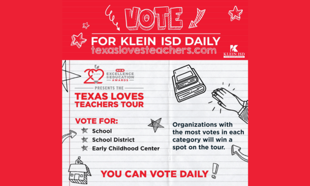 Nominate Klein ISD and Your Favorite Campuses for HEB Excellence in Education Awards Tour of Texas