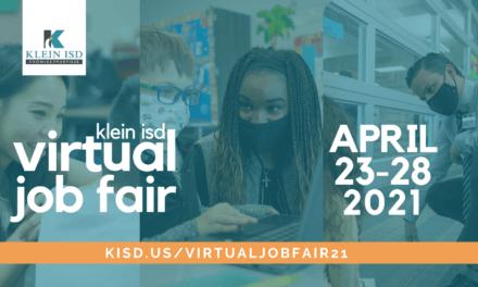 Join us for the Klein ISD Virtual Job Fair