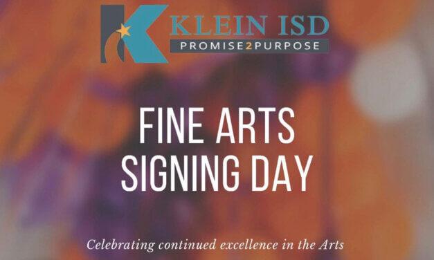 Klein ISD Hosts Fine Arts Signing Day Event