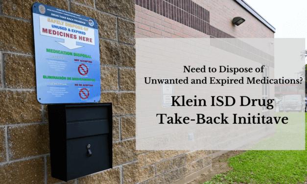 Klein ISD Police Department Hosts Drug Take-Back Initiative