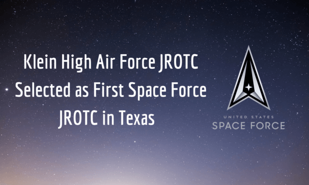 Klein High Air Force JROTC Selected as First Space Force JROTC in Texas
