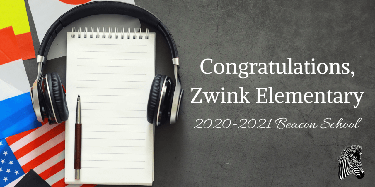 Imagine Learning Recognizes Zwink Elementary as 2020-2021 Beacon School