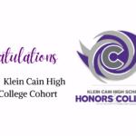 Klein Cain Honors College Pathway Announces 2021-2022 Cohort