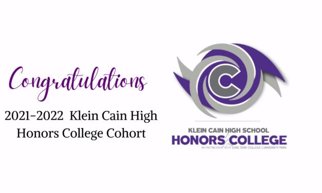 Klein Cain Honors College Pathway anuncia la cohorte 2021-2022