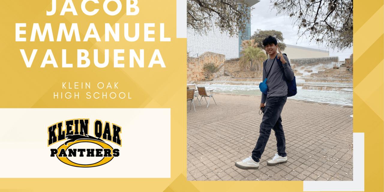 Jacob Emmanuel Valbuena, Klein Oak High Top 10 – Senior Spotlight