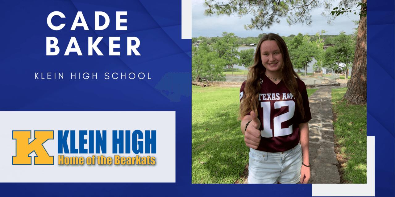 Cade Baker, Klein High Top 10 – Senior Spotlight