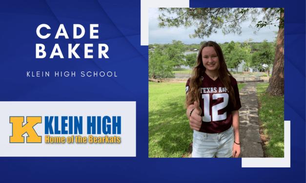 Cade Baker, Klein High Top 10 - Destacado senior