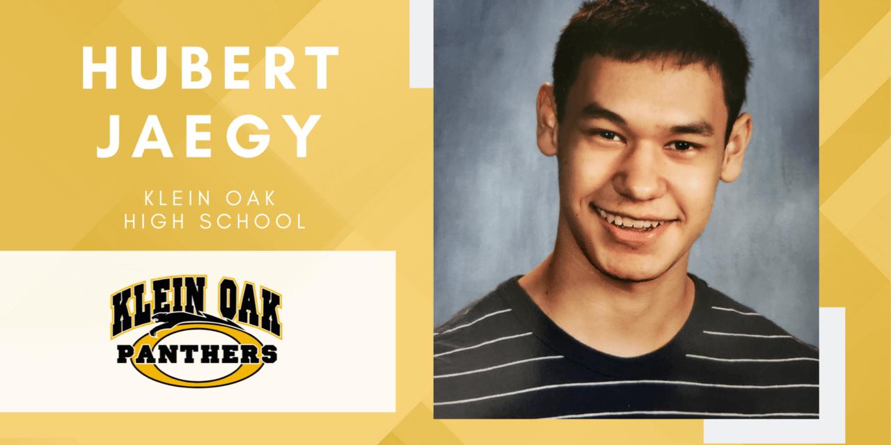 Hubert Jaegy, Klein Oak High Top 10 – Senior Spotlight