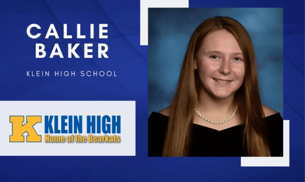 Callie Baker, Klein High Top 10 – 高级聚光灯