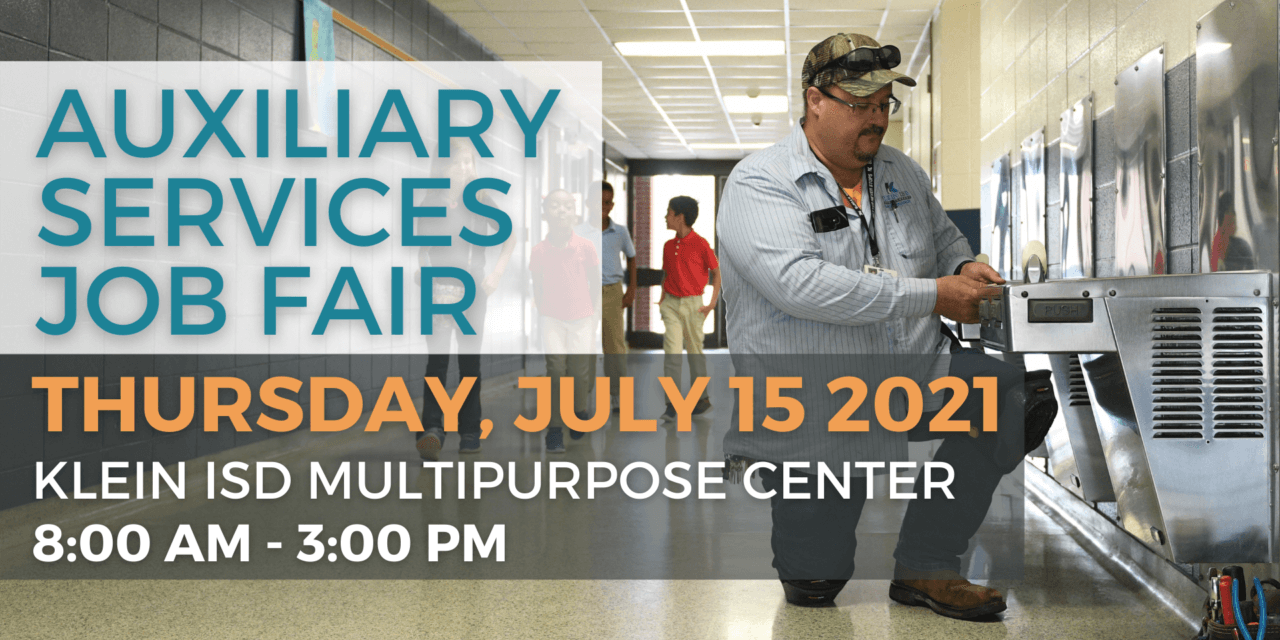 Join us at the Klein ISD Auxiliary Services Job Fair