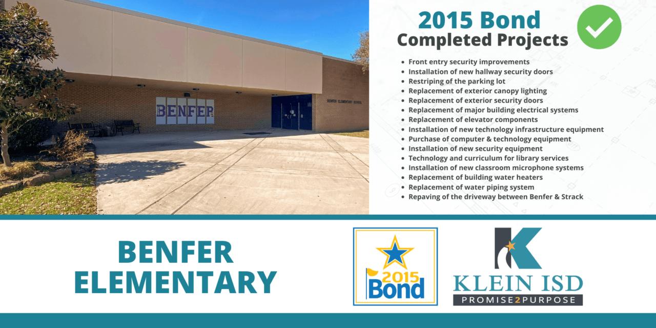 2015 Bond Completion Report – Benfer Elementary
