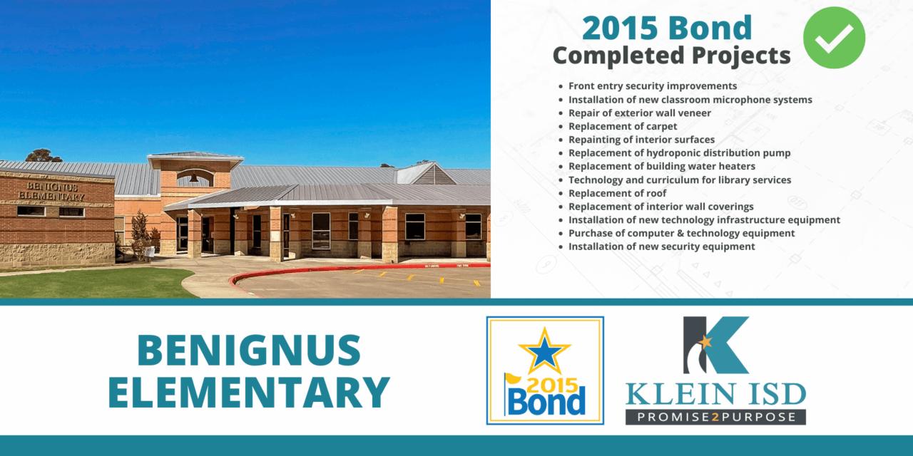 2015 Bond Completion Report – Benignus Elementary