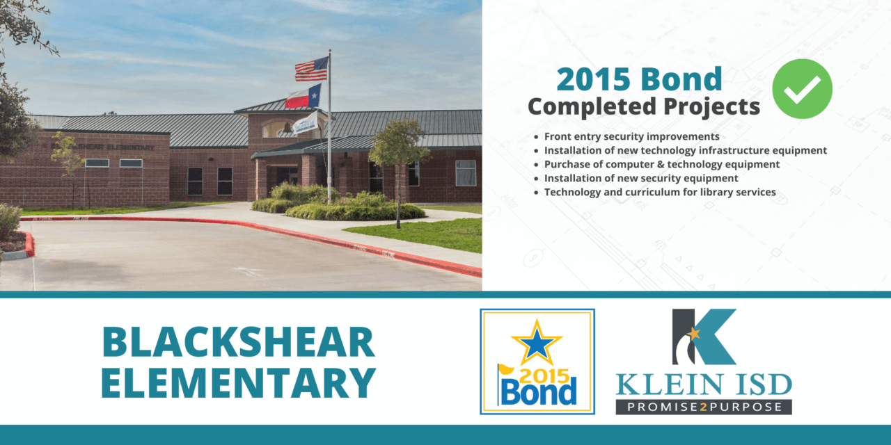 2015 Bond Completion Report – Blackshear Elementary
