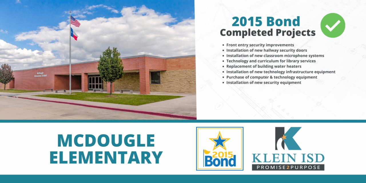 2015 Bond Completion Report – McDougle Elementary