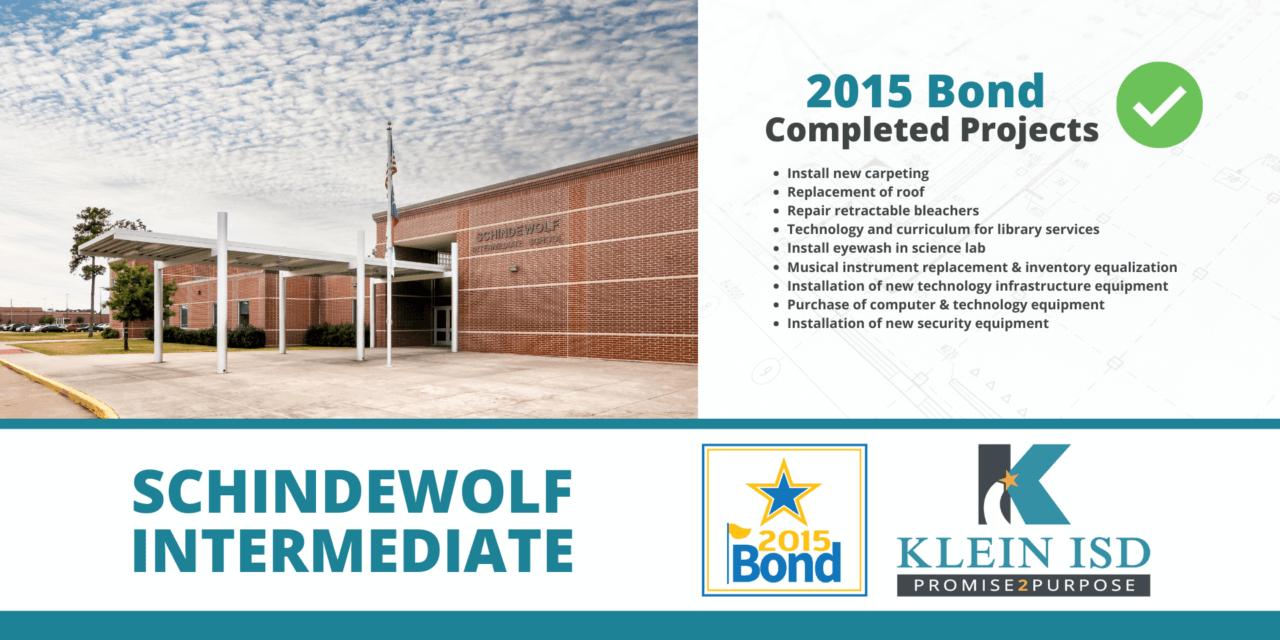 2015 Bond Completion Report – Schindewolf Intermediate