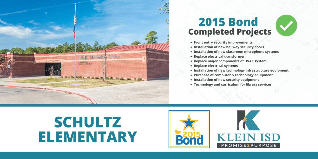 2015 Bond Completion Report – Schultz Elementary